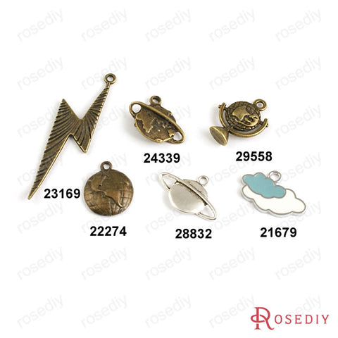 Cloud Map Lightning Earth satellite Globe Charms Pendants Accessories More styles can picked - Hespirides Gifts - 1