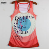 New Sexy Leopard Women Graffiti Printing 3D Vest Stripe Tank Tops Women - Hespirides Gifts - 7