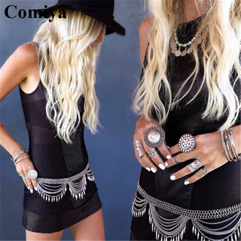 Comiya fashion multi rows link chains women belts ceinture homme marque famous brand dress accessories wholesale mujer lady belt - Hespirides Gifts - 1
