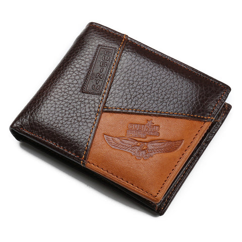 famous luxury brand genuine leather men wallets coin pocket zipper men's leather wallet - Hespirides Gifts - 1
