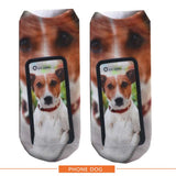 Multiple Colors Women Men Cotton Animal Socks Cute Pug Dog Husky 3D Printet