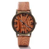 Classical Bamboo Wooden Watch New Arrival Women Wristwatches High Quality Vintage Style Men Dress Watch PU Leather Quartz Watch - Hespirides Gifts - 4