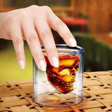 Hot Special Transparent Crystal Skull Head Shot Glass Cup For Whiskey Wine Vodka Home Drinking Ware - Hespirides Gifts - 3