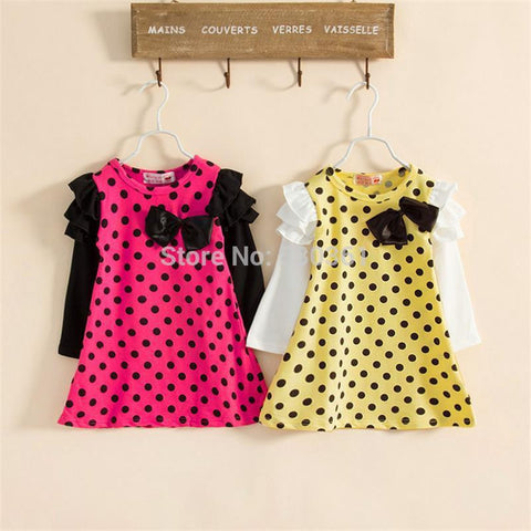New autumn /spring children clothing girls polka dot dress long-sleeve kids girls princess dress - The Fire Pits Store  - 1