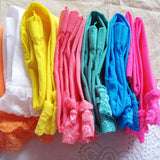 Candy Color Velvet Lace Children Girls Cotton Pants Leggings 18.5 inches long - Hespirides Gifts - 9