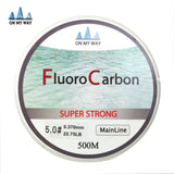 New Available 500M Fluorocarbon Fishing Line 0.148-0.467mm 5-32LB Carbon Fiber Leader Line brand fly fishing line pesca - Hespirides Gifts - 1