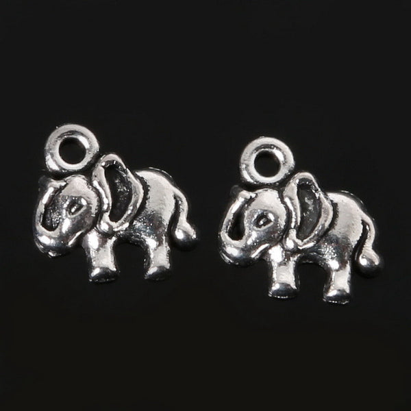 Wow Fashion antique silver plated elephant charms, Zinc Alloy - Hespirides Gifts - 5