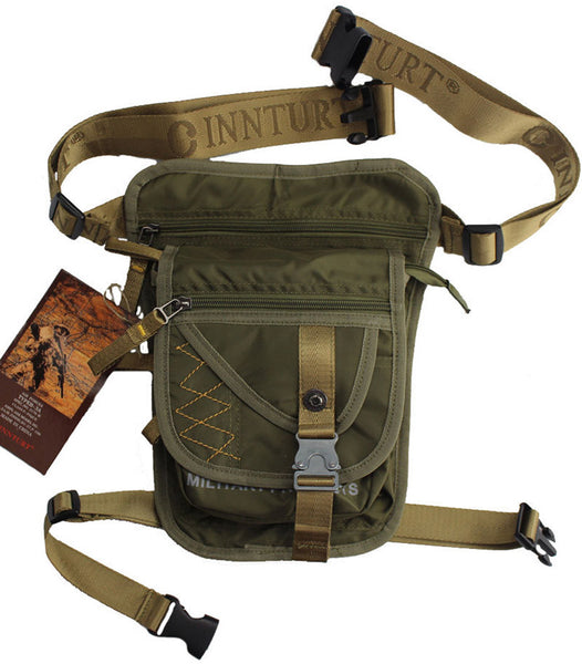Durable Nylon Men Leg Hip Drop Bag Outdoor Ride Motorcycle Hunting Fishing Military Tactical Assault Molle Bum Fanny Waist Pack - Hespirides Gifts - 2