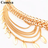 Comiya fashion multi rows link chains women belts ceinture homme marque famous brand dress accessories wholesale mujer lady belt - Hespirides Gifts - 5