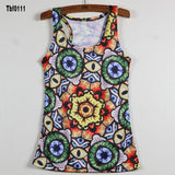 New Sexy Leopard Women Graffiti Printing 3D Vest Stripe Tank Tops Women - Hespirides Gifts - 16