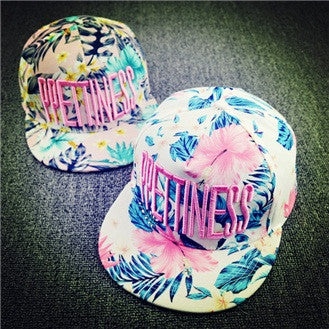 Hats Letter Embroidery Flowers Sweet Hats For Women Hip Hats Fashion Baseball Cap - Hespirides Gifts - 1