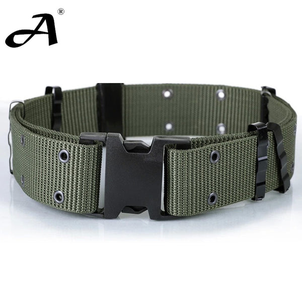Military Field Tactical Accessories Tactical for military uniforms Belt Military Equipment Strengthening Black Canvas - Hespirides Gifts - 1
