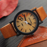 Simulation Wooden Relojes Quartz Men Watches Casual Wooden Color Leather Strap Watch Wood Male Wristwatch Relogio Masculino - The Fire Pits Store  - 2