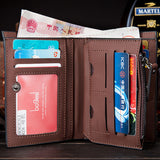 New Arrival Fashion Short designer Nubuck leather Men wallets with zipper three folds