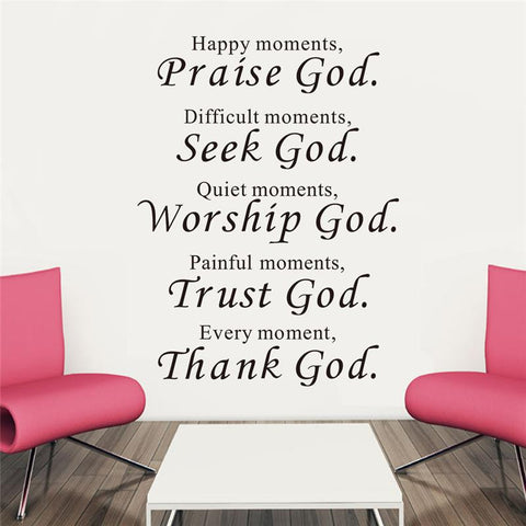 trust god bless you wall stickers quotes christian living bedroom decoration - Hespirides Gifts