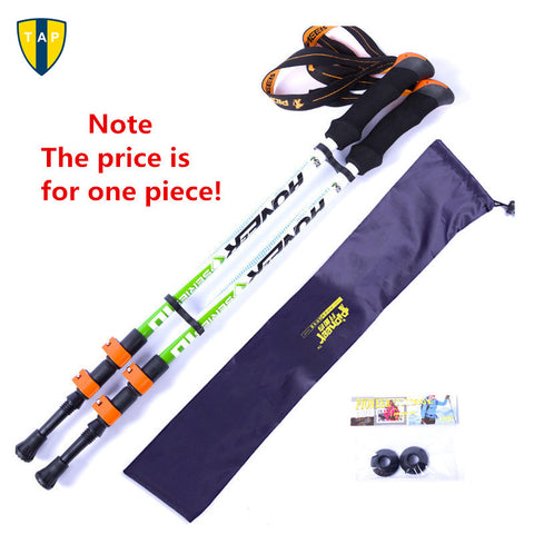 Ultra-light Adjustable Camping Hiking Walking Trekking Stick Alpenstock Carbon Fiber shooting Climbing Skiing Trekking pole - Hespirides Gifts - 1