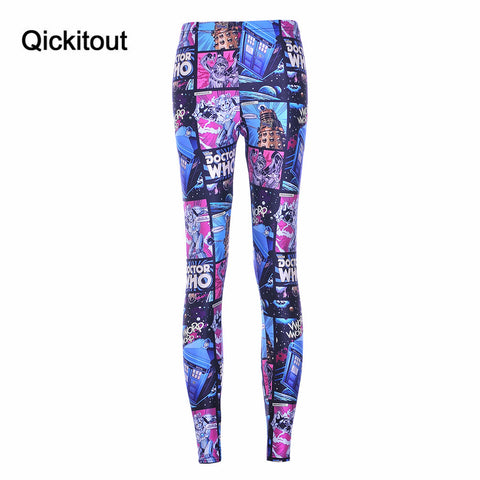 Women's Leggings 3D Comic Jegging Digital Printed Wholesale Capris Legging - Hespirides Gifts - 1
