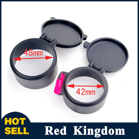 "Dustproof Scope Cover 48mm&42mm Caps 1.9""&1.65"" For 40mm Rifle Scope Sight Lens Quick Release For Gun Scope - Hespirides Gifts - 1"