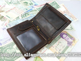 Vintage Crazy Horse Leather Wallets For Men New Card Holder Coin Purse,Natural - Hespirides Gifts - 3