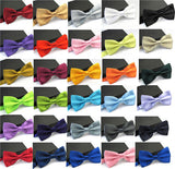 Ties for Men Fashion Tuxedo Classic Mixed Solid Color Butterfly Wedding Party Bowtie Bow Tie - Hespirides Gifts - 13