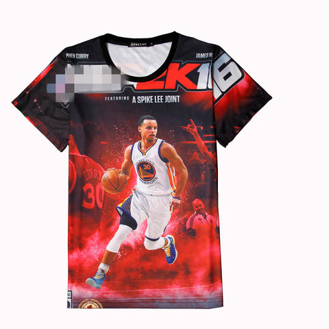 Stephen Curry Jersey 3d Tee Shirt Homme Basketball Superstars Kyrie Irving Paul George Lebron Fashion Tshirt Men T-shirt Hip Hop - Hespirides Gifts - 1