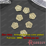Round Oval flowers Hshape Handmade Charms Pendants Accessories More styles can picked - Hespirides Gifts - 10