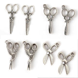 Wow Fashion silver tone Barber scissors charms pendant , 5 styles selection - Hespirides Gifts - 1