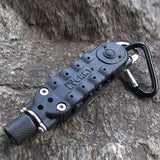 EDC Multi-functional Climbing Carabiner Paracord Buckle Screwdriver Flashlight Wrench Tool BG44 - Hespirides Gifts - 2