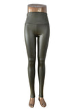 Plus Size New Fashion women's Sexy Skinny Faux Leather High Waist Leggings Pants S/M/L/XL - Hespirides Gifts - 18