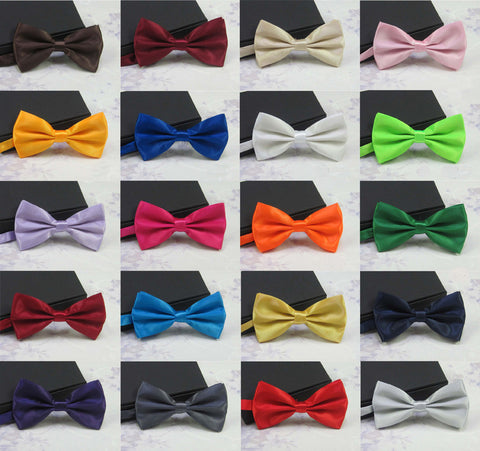 Men's Fashion Tuxedo Classic Mixed Solid Color Butterfly Wedding Party Bowtie Bow Tie Pre Tied - Hespirides Gifts - 1