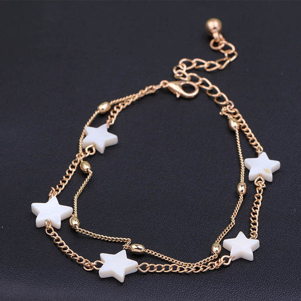 new ankle bracelet foot jewelry pulseras tobilleras heart simple anklets for women girl - Hespirides Gifts - 3