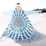 New Peacock Mandala Wall Hanging Cloth Beach Towel Picnic Blanket Shawl - Hespirides Gifts - 3