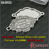 Round Oval flowers Hshape Handmade Charms Pendants Accessories More styles can picked - Hespirides Gifts - 3