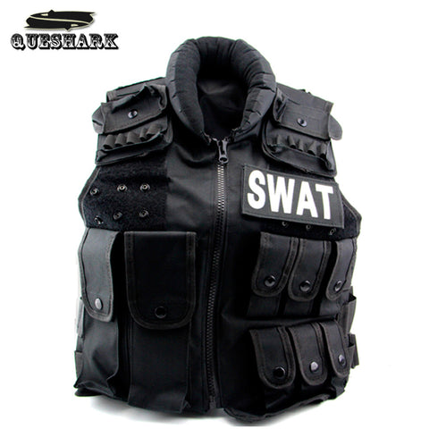 Mens Military Bulletproof Tactical Vest Molle Black Hiking Camping Vest Swat Army Training Combat Protective Equipment - Hespirides Gifts - 1