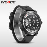 WEIDE Men Watches New Luxury Brand Clock Male 30m Waterproof Silcone Band Dual Time Zones Casual Sports Men Quartz Wrist Watch - Hespirides Gifts - 2