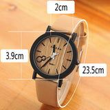 Simulation Wooden Relojes Quartz Men Watches Casual Wooden Color Leather Strap Watch Wood Male Wristwatch Relogio Masculino - The Fire Pits Store  - 7