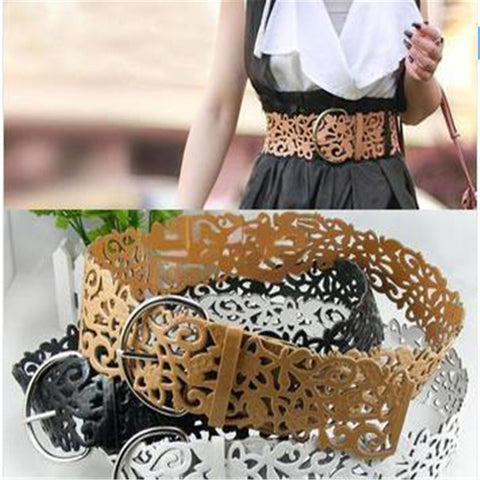 Hot Fashion 6 Colors Women's Lady Tie Belt Wide Hollow Buckle Waist band Waistband Waist Belt - Hespirides Gifts - 1