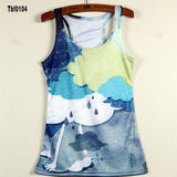 New Sexy Leopard Women Graffiti Printing 3D Vest Stripe Tank Tops Women - Hespirides Gifts - 9