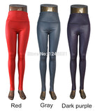 Plus Size New Fashion women's Sexy Skinny Faux Leather High Waist Leggings Pants S/M/L/XL - Hespirides Gifts - 3