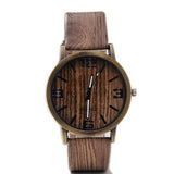 Classical Bamboo Wooden Watch New Arrival Women Wristwatches High Quality Vintage Style Men Dress Watch PU Leather Quartz Watch - Hespirides Gifts - 6