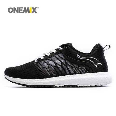 ONEMIX New Unisex Running Shoes Breathable Mesh Men Athletic Shoes Super Light Outdoor Women Sport shoes lovers walking shoes - Hespirides Gifts - 1