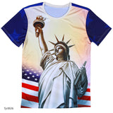 european style creative t shirt fashion sightseeing printing t-shirt short sleeve o neck - Hespirides Gifts - 7