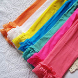 Candy Color Velvet Lace Children Girls Cotton Pants Leggings 18.5 inches long - Hespirides Gifts - 14