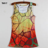 New Sexy Leopard Women Graffiti Printing 3D Vest Stripe Tank Tops Women - Hespirides Gifts - 10
