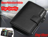 Fashion Brand Luxury Mens Wallets Designer PU Nubuck Leather Men Purse Short - Hespirides Gifts - 7
