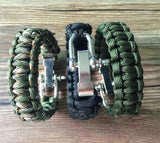 Paracord Survival Bracelet Men Camping Outdoor Woven Parachute Shackle Pin Buckle - Hespirides Gifts - 4