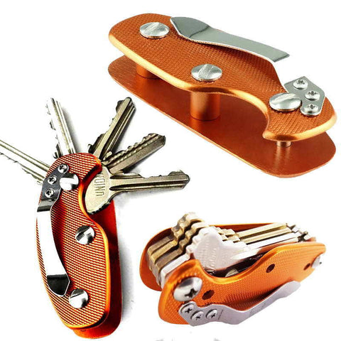 EDC Lightweight Folding Keys Organizer Holder Pocket Aluminum Key Holdear Key Bar - Hespirides Gifts