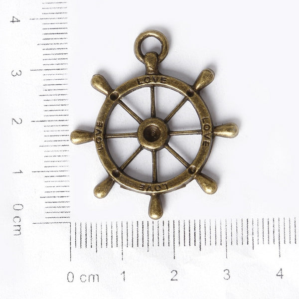 Vintage Fashion Jewelry Findings Metal Vintage Antique Bronze Plated anchor - Hespirides Gifts - 2