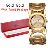 WEIQIN Brand Luxury Crystal Gold Watches Women Fashion Bracelet Quartz Watch - Hespirides Gifts - 5