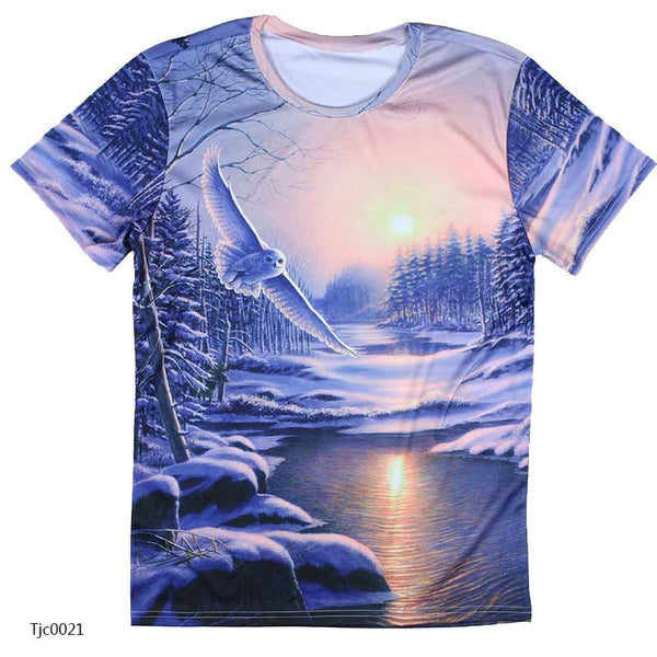 european style creative t shirt fashion sightseeing printing t-shirt short sleeve o neck - Hespirides Gifts - 4